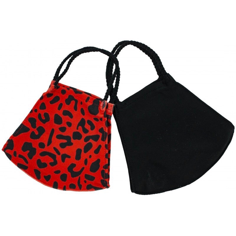 Red Leopard - Pack of Pomchie Masks