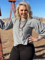 Grey Dotted Kandi Top