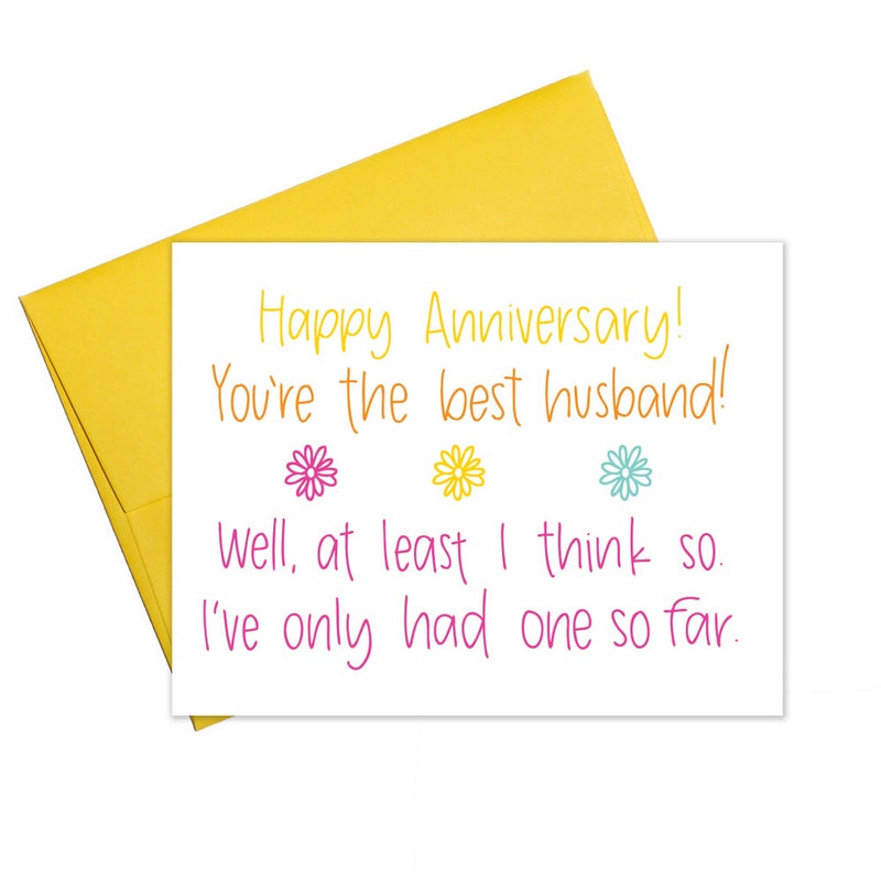 You're the Best Husband - Anniversary Card