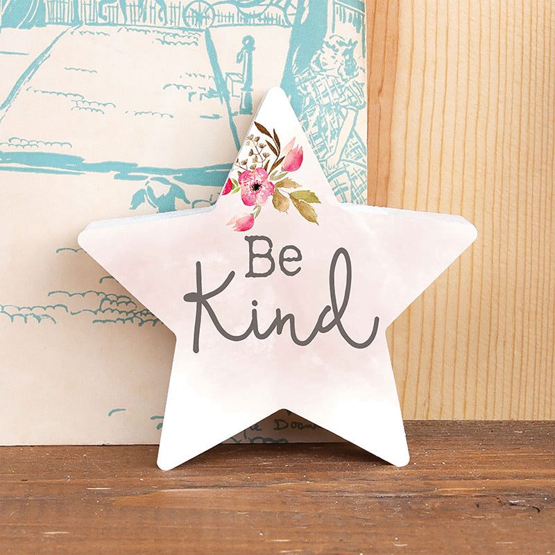Be Kind - Star Shaped Wood Sign