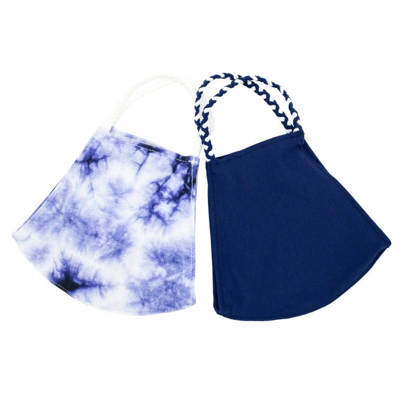 Indigo Tie Dye - 2 Pack of Pomchies Masks