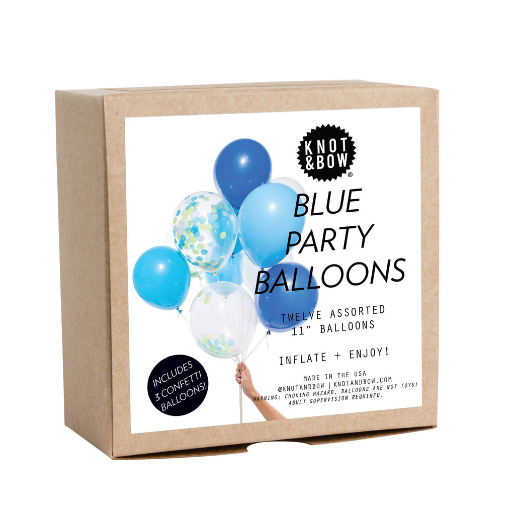Blue Party Balloons Assortment