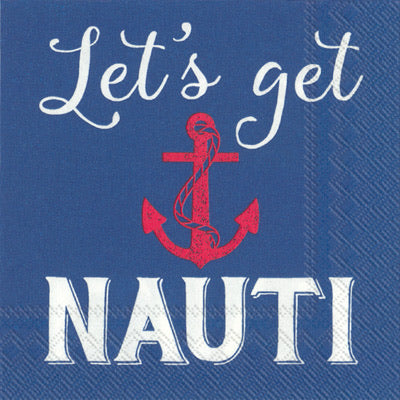 Let's Get Nauti Cocktail Napkin