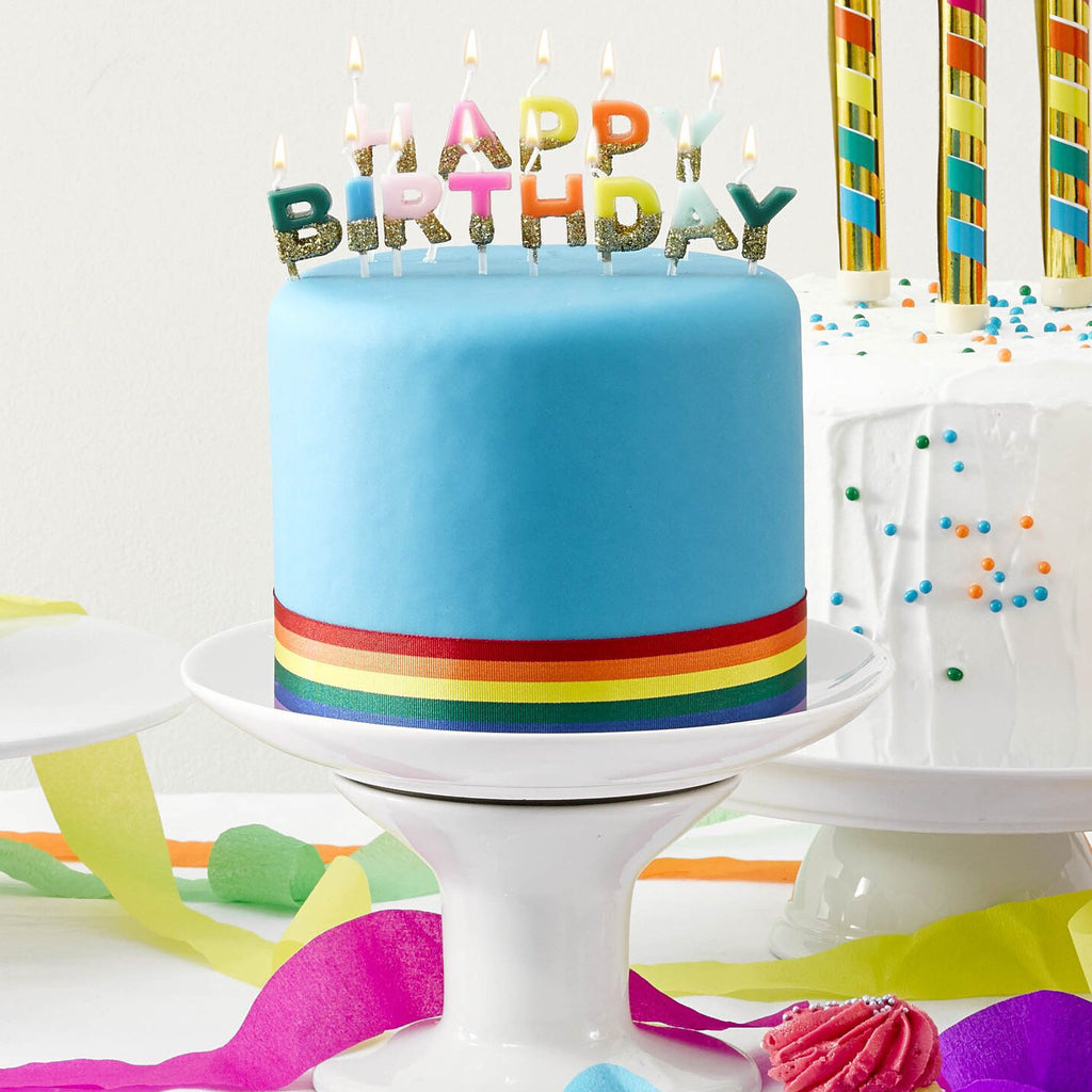 CLEARANCE - Birthday Brights Rainbow Happy Birthday Candles