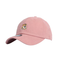 Baseball Cap Shiba Inu Dog Flower Embroidery Simple Plain Ball Cap For Women Doge Hachi-ko Mellange Cotton Hat