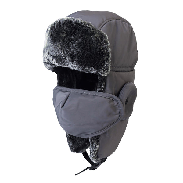 Kids Winter Trapper Russian Hat Earflaps Mask Ski Fleece Cap