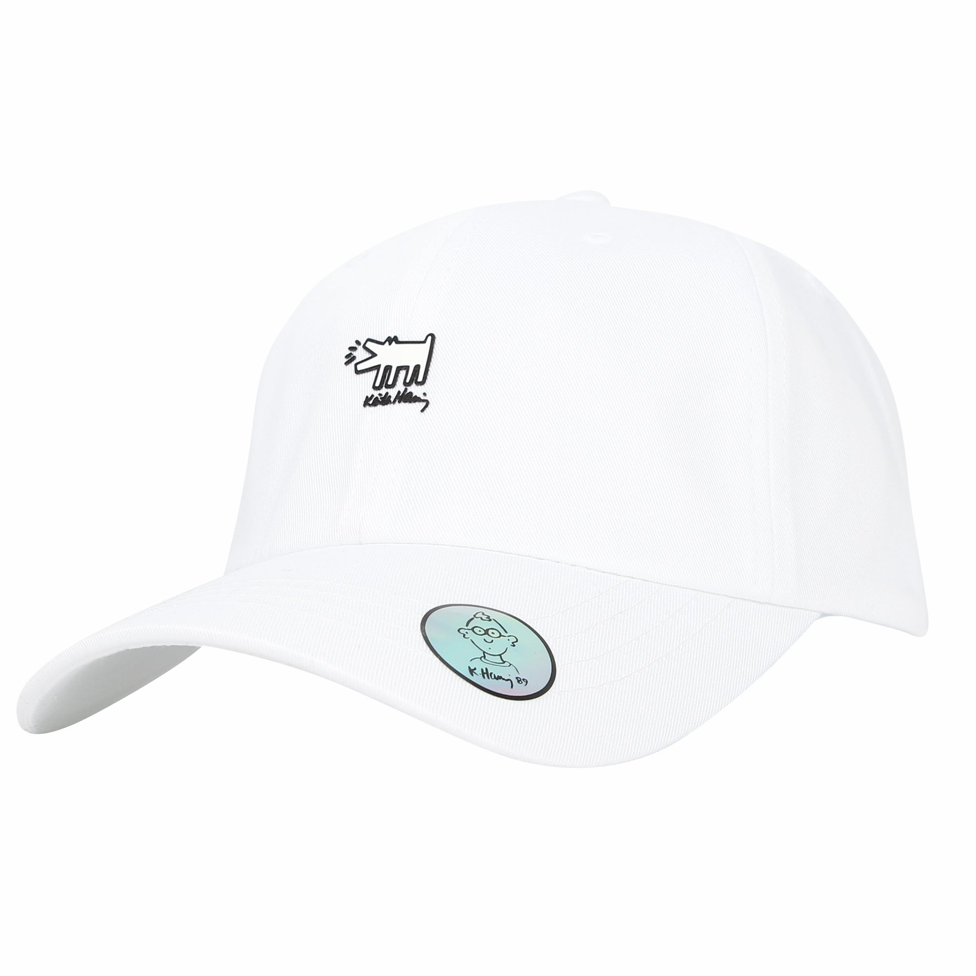 Keith Haring Graffiti Art Baseball Cap Dog Patch Hat
