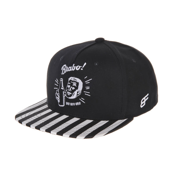 Bravo Cheers Embroidery Stripe Cotton Snapback Hats