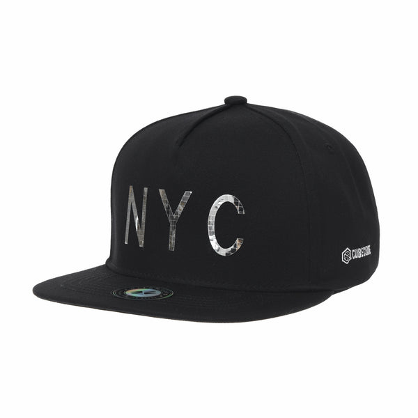 Snapback Hat NYC Glossy Spangle Lettering Baseball Cap