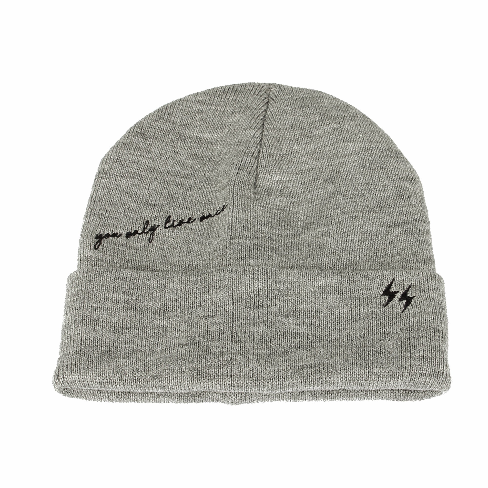 Knitted Beanie Hat You Only Live Once Watch Cap