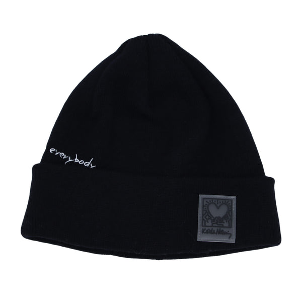 Skull Beanie Hat Keith Haring Heart Patch Watch Cap
