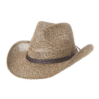 Western Cowboy Hat Summer Cool Paper Straw Banded