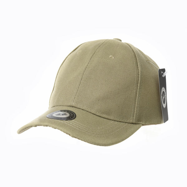 Baseball Cap Plain Solid Adjustable Hook and Loop Strap
