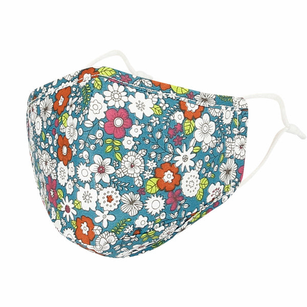 Cotton Face Floral Bandana Filter Pocket Multiple Layer