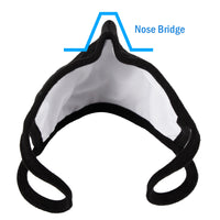 WITHMOONS 3PCS Cotton Face Mask Multiple Layers Cover Reusable Washable with Nose Bridge EU0304