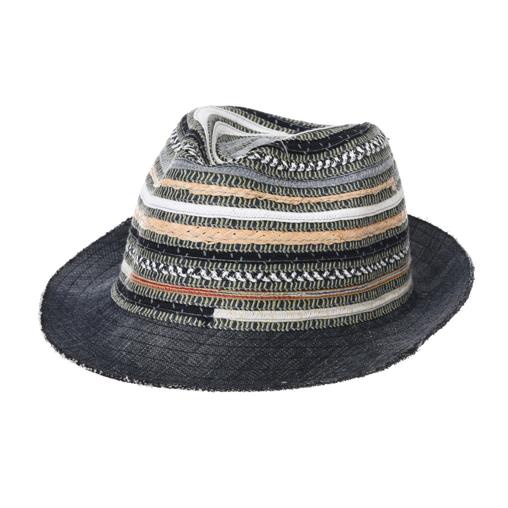 Fedora Hat Summer Cool Aztec  Pattern Paperstraw Trilby For Men