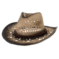 Western Cowboy Hat Cool Paper Straw Banded Chin Strap