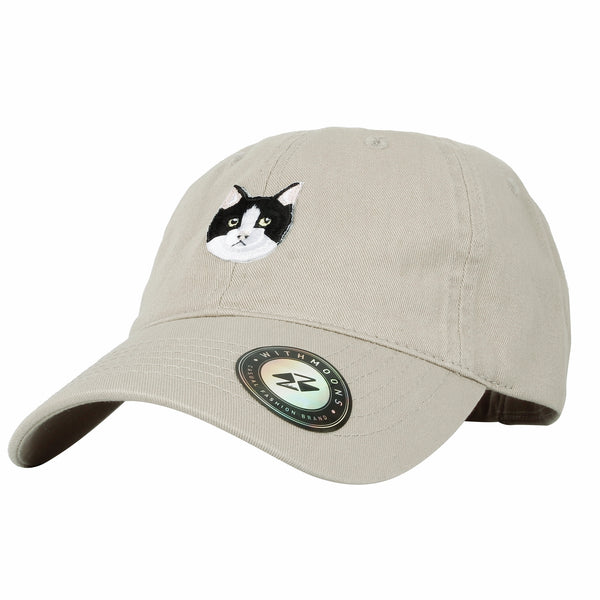 Baseball Cap Cute Cat Face Embroidery Cotton Dad Hat