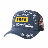Baseball Cap Vintage Meshed Cotton Star Embroidery Hat For Men