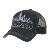 Baseball Cap Meshed Hat Chicago Embroidery
