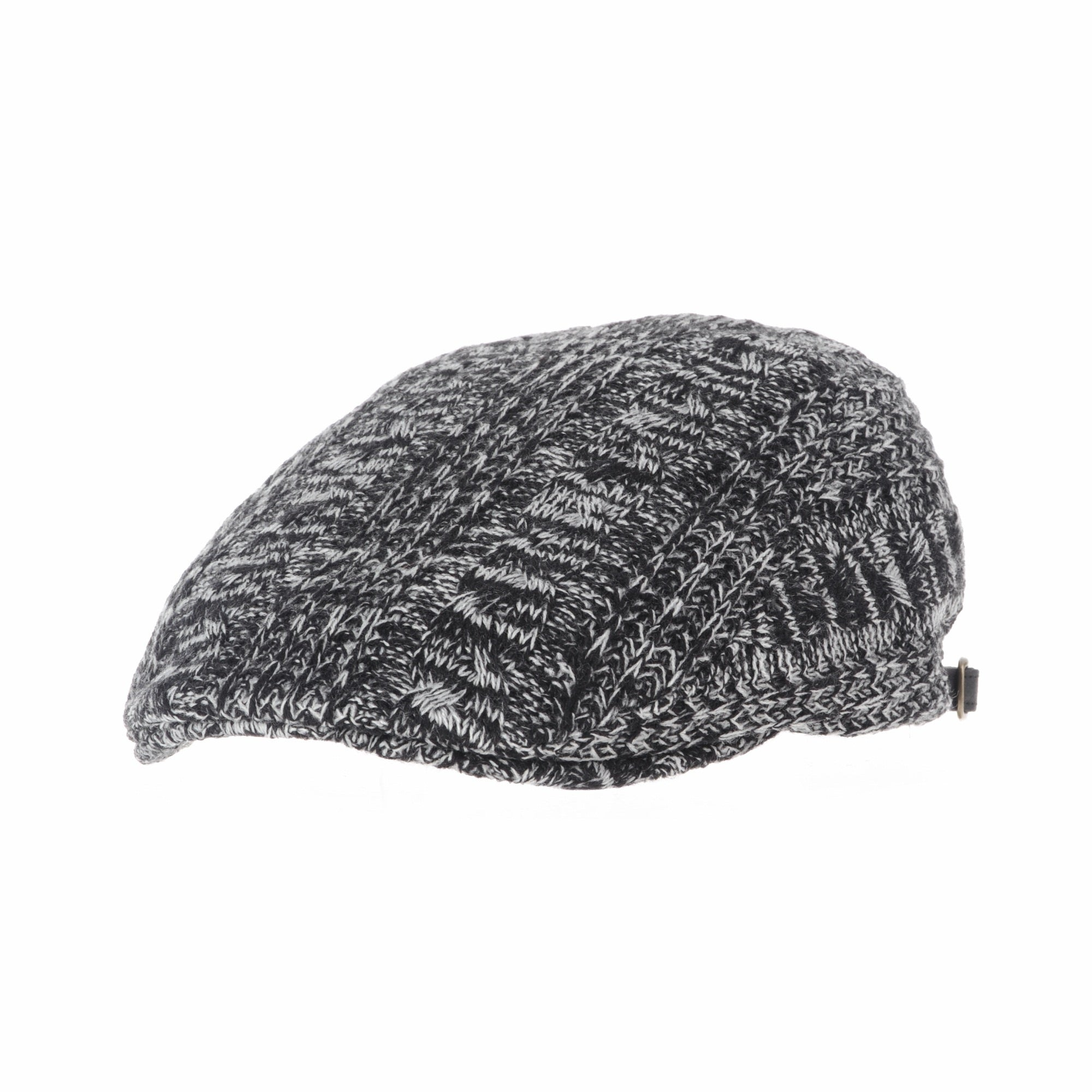 Knitted Twisted Cable Pattern Newsboy Hat Flat Cap