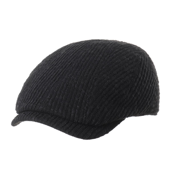 Wool Knitted Two Tone Newsboy Hat Flat Cap