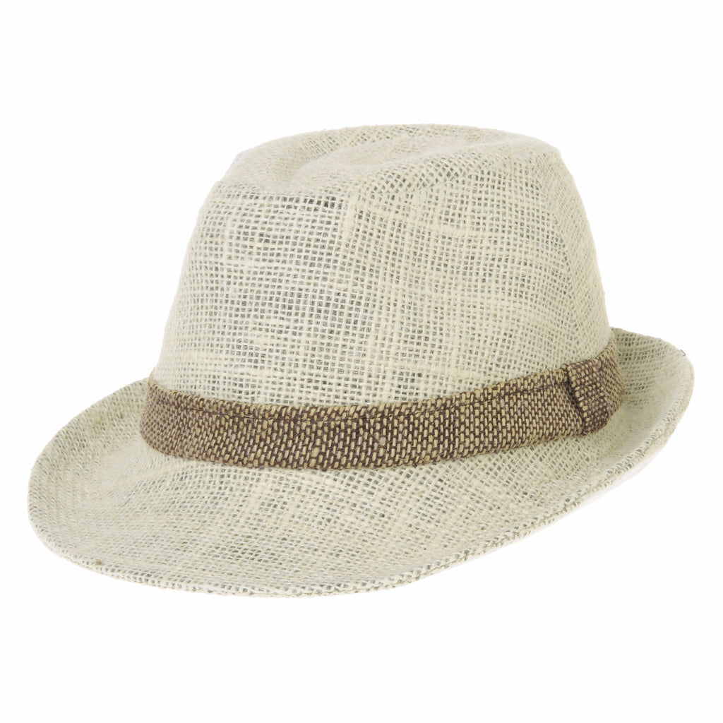 Linen Fedora Hat Meshed Neutral Color Summer Cool
