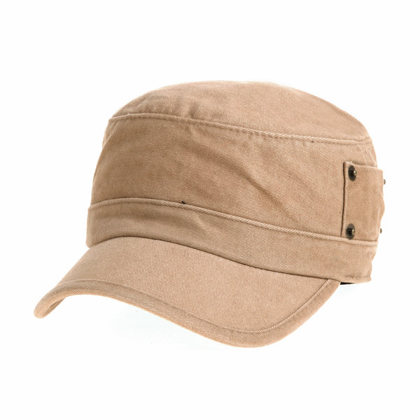 Cadet Cap Cotton Vintage Hat Side Revets
