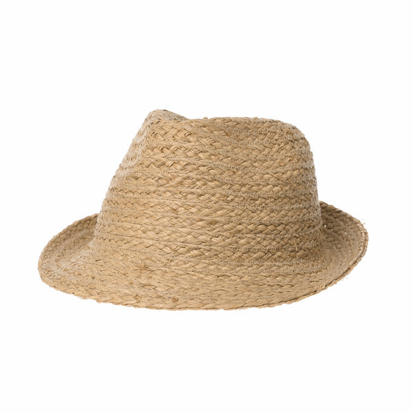 Fedora Hat Summer Cool Bocasi Raffia Simple Plain Seamless Unique Hat