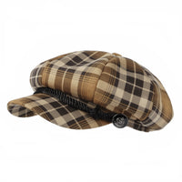 Tartan Plaid Check Beret Newsboy Hat Soft Fabric SLG1122