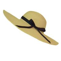 Women Straw Sun Hat Wide Brim Floppy Beach Cap UPF 50+ SZ90045