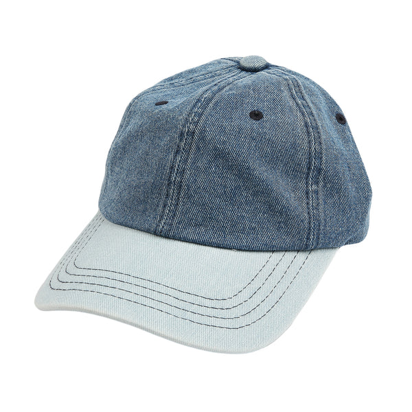Classic Polo Style Baseball Cap Denim Cotton Dad Hat