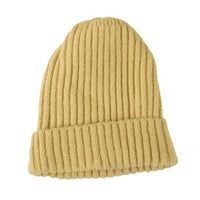 Ribbed Knit Beanie Classic Plain Warm Cuff Daily Cap