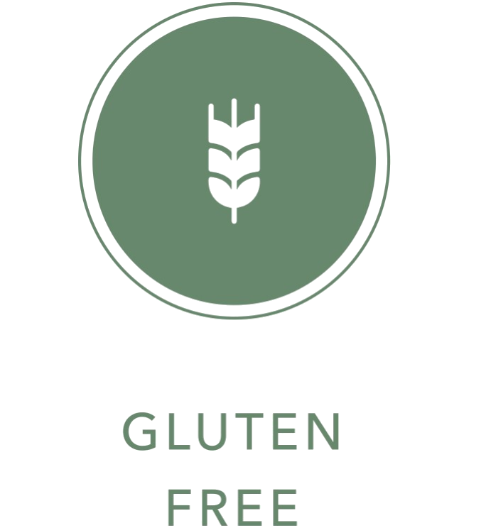 wheat icon with Gluten Free text