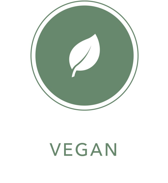 leaf icon with Vegan text