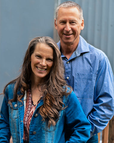 Carol and Eric Blanchet, owners Talking Crow Coffee Roasters