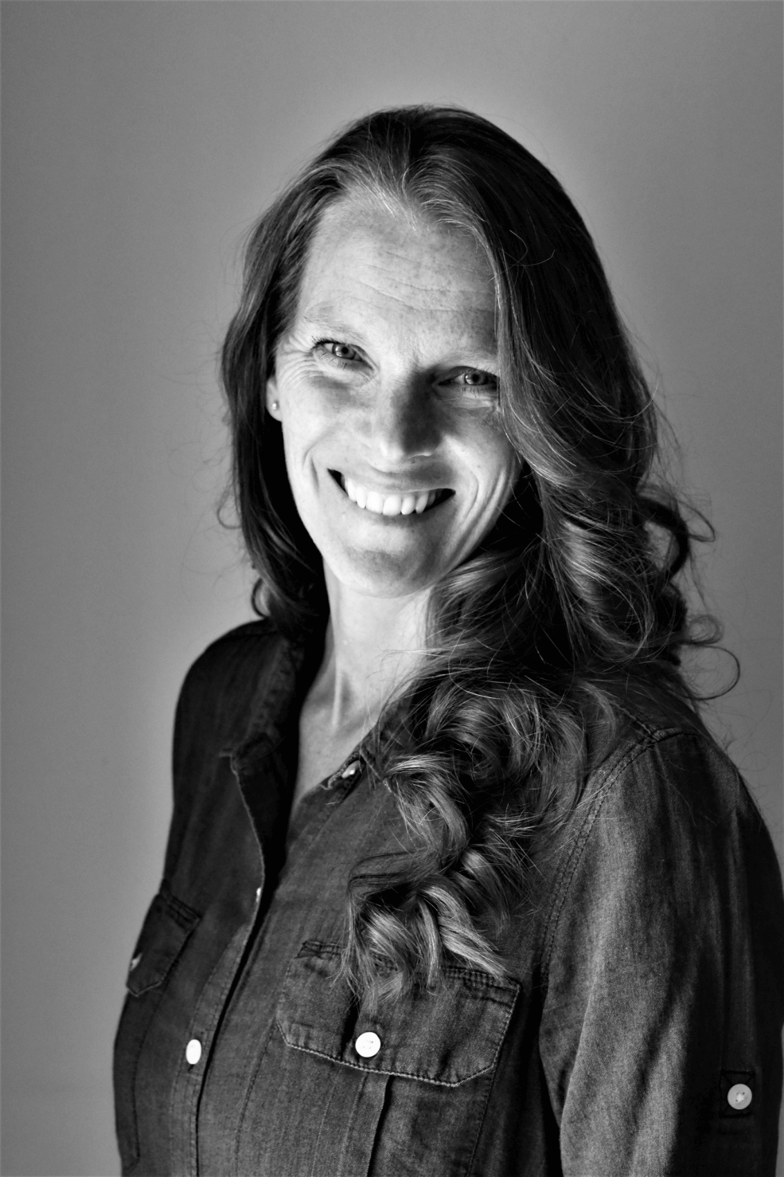 Black and white Image of Carol founder and ceo of talking crow coffee roasters