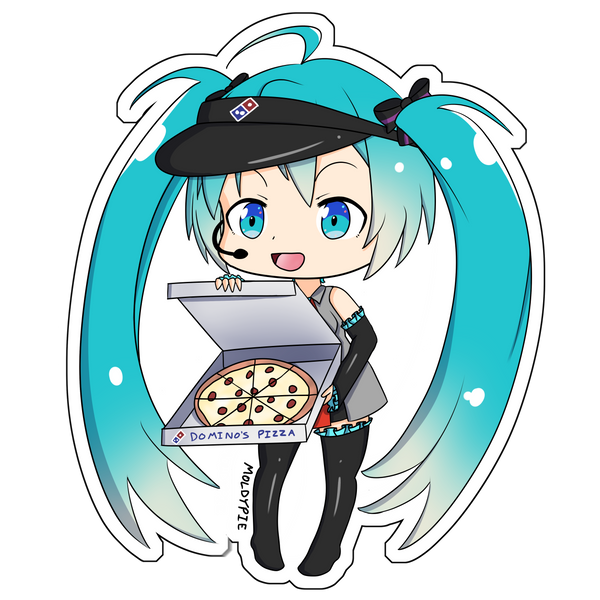 Dominos Miku Vinyl Sticker