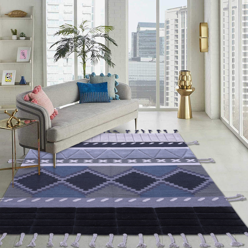 Multi-colour, stylish, Geometric Pattern, Hand-Tufted, Wool Rug