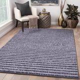 Black and Grey, Hand-woven, Wool PEQURA Rug
