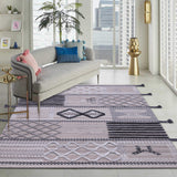 Beige, Black and Grey, Rectangle, Wool PEQURA Rug