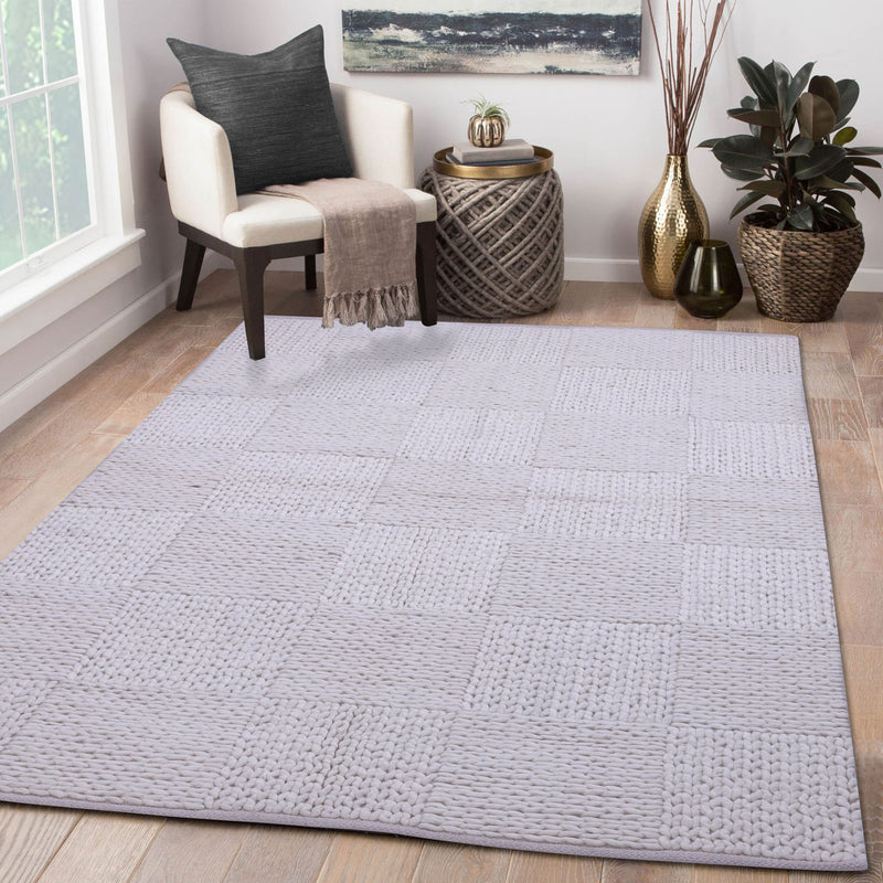 Natural White, Hand-woven, Wool PEQURA Rug