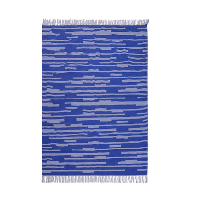 Blue and Grey, Cotton, Stripe Pattern, PEQURA Rug