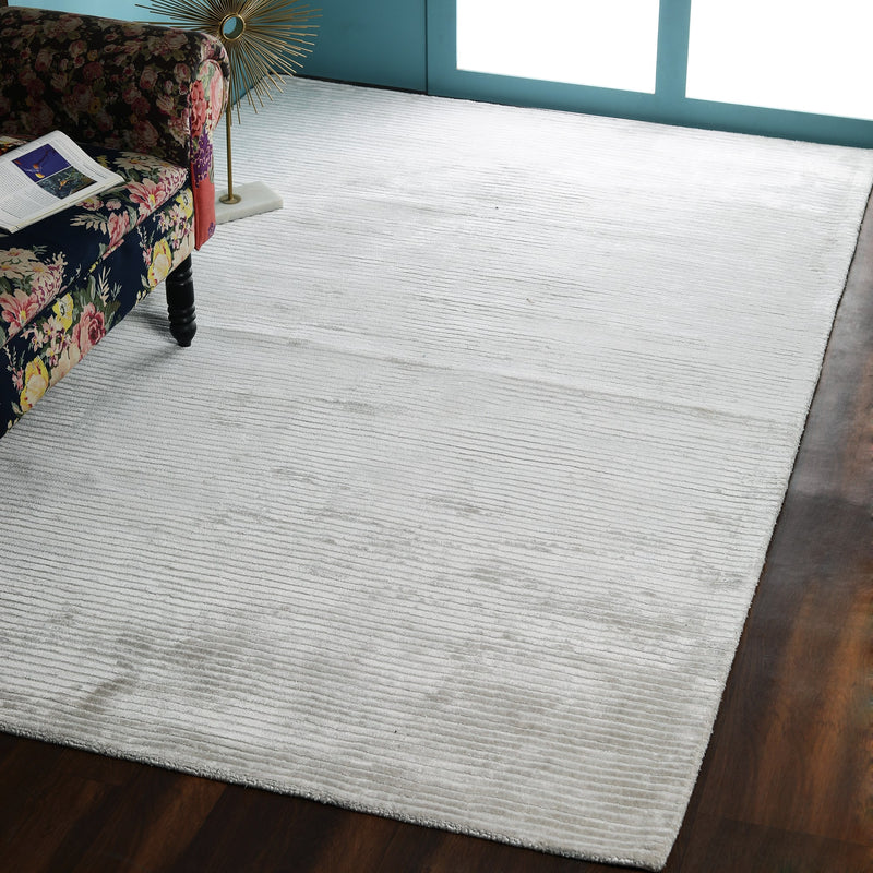 Ecru, Self-Strip, Rectangle PEQURA Rug