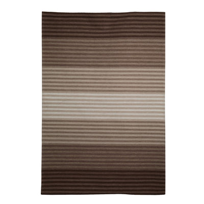 Off-White, Beige and Brown, Stripe Pattern, Contrast, Woollen PEQURA Rug.