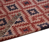 Kilim, Tri-color, Hand-woven PEQURA Carpet