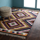 Kilim, Multi-color, Hand-woven PEQURA Carpet