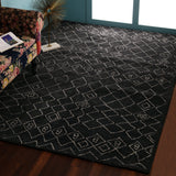 Dark Grey, Rectangle, Moroccan, Tufted Carpet