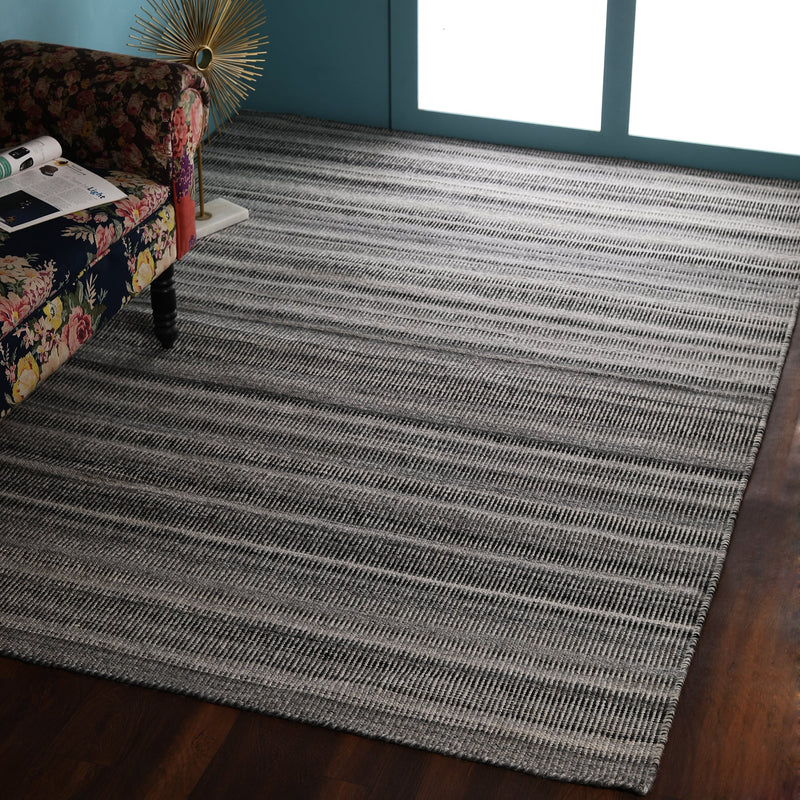 Grey and Beige Plain, Rectangle PEQURA Rug