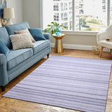 Grey, Stripe Pattern, Texture Wool PEQURA Rug